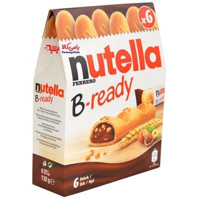 قیمت بیسکوئیت صبحانه شش عددی B-ready نوتلا (nutella)