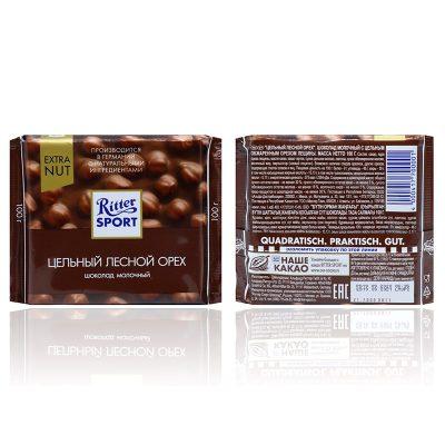 قیمت شکلات فندق کامل ریتر اسپرت