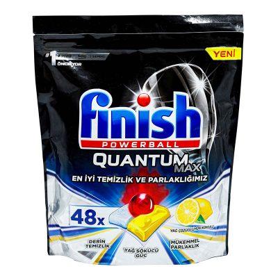قرص ماشین ظرفشویی فینیش مدل کوانتوم مکس لمون ۴۸ عددی Finish Quantum Max Lemon