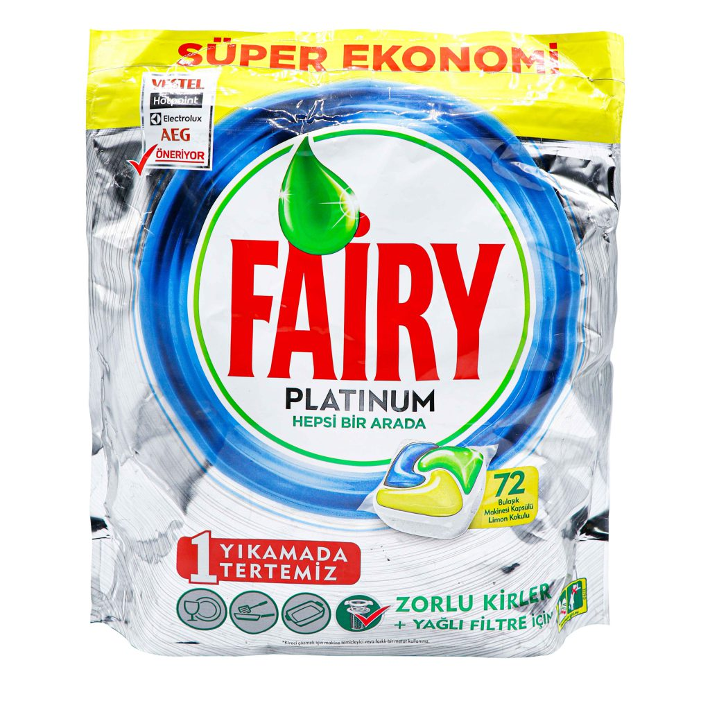 خرید قرص ماشین ظرفشویی فیری پلاتینیوم بسته 72 عددیFAIRY PLATINUM