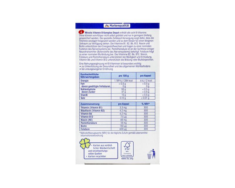قیمت ویتامین ب کمپلکس میولیس B COMPLEX MIVOLIS